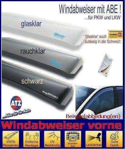 03-3523D Farbausf/ührung: schwarz ClimAir Windabweiser vorne mit ABE