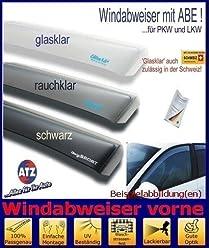 Tuning-Pro Climair Windabweiser Set vorne /& hinten 04-4294D.KS mit ABE Farbausf/ührung: schwarz