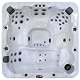 Cheap American Spas AM-756LS 6-Person 56-Jet Lounger Spa with Bluetooth Stereo System, LED Streamer Waterfall, Ozone Sanitization