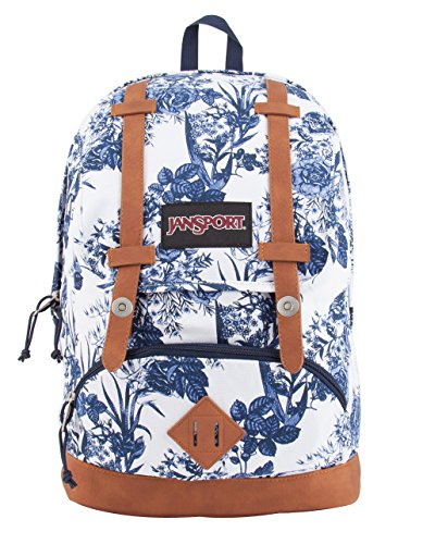 JanSport Baughman Laptop Backpack (White Artist Rose)