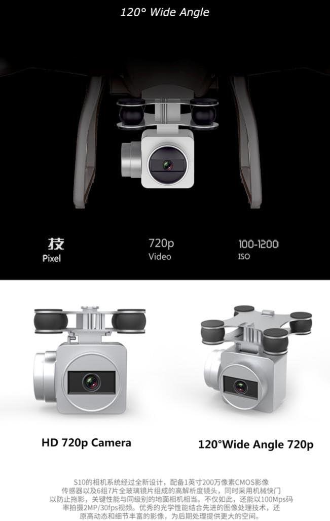 RC Quadcopter Drone 720P cámara Altura Hold smrc S10 W de G 120 ...