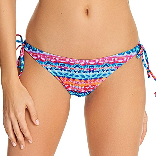 Freya Cuban Crush Rio Side Tie Bikini Bottom, M, Watercolor