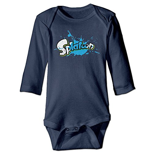 Mzone Video Game Takoroka Long-sleeve Romper Outfits For 6-24 Months Newborn Baby Size 6 M Navy Picture