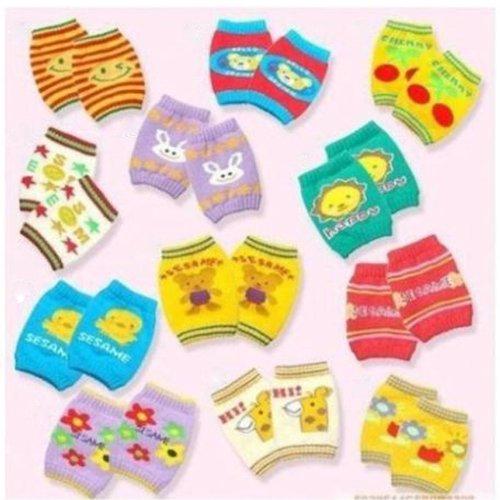 Foreveryang Unisex Baby Cartoon Walk Protection Cotton Short Kneecap Knee Pads Random Color