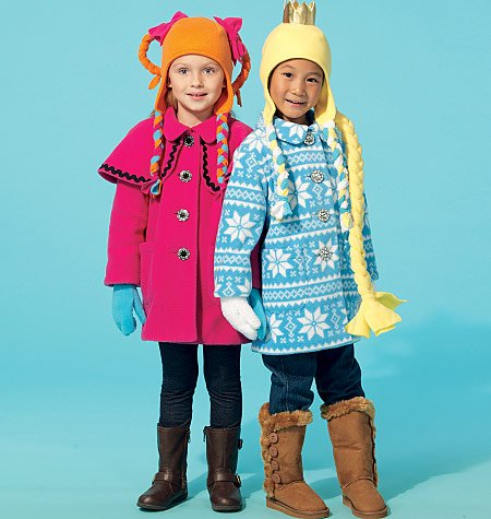 Sewing Fleece Mittens - MCCALLS M7276 GIRLS' COATS, HATS, SCARF, MITTENS (SIZE 6-7-8) SEWING PATTERN