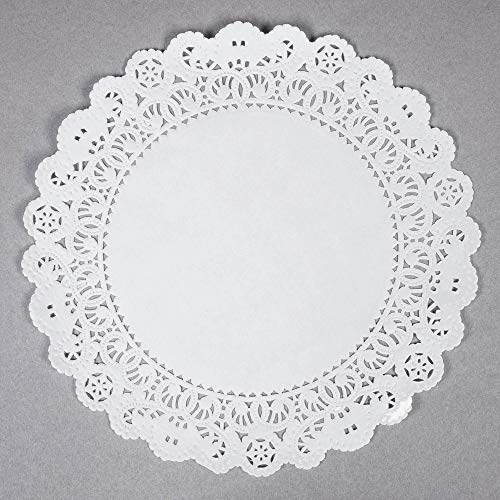 Round White Normandy Lace Paper Doilies 100 Count (8 Inch) ()