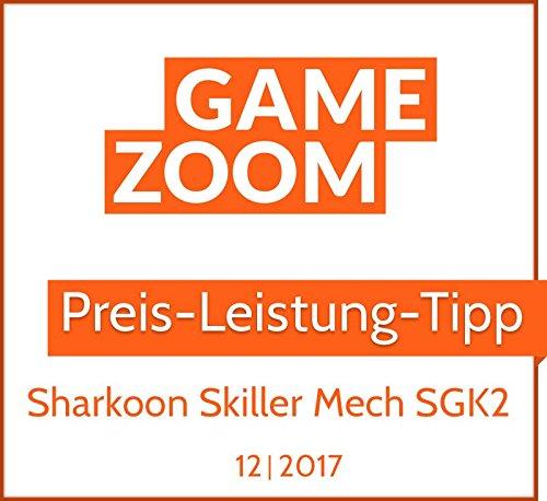 schwarz Sharkoon Skiller Pro Plus beleuchtete Gaming Tastatur Onboard-Speicher, Multi-Key-Rollover-Unterst/ützung