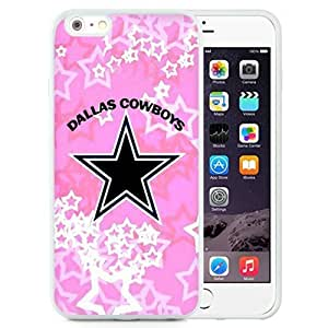 Easy Set,Customized Iphone 6 Plus Case Design with Dallas Cowboys Iphone 6 Plus TPU 5.5 Inch White Cell Phone Case by ruishername