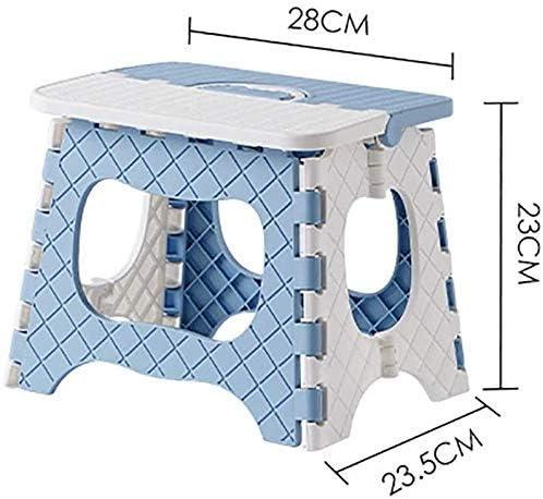 HLJ Chaise Pliante Tabouret Stepaping Stepaper Solide Solide for Enfants Adultes Home Cuisine Légère des Plis de Stockage Facile Transport (C