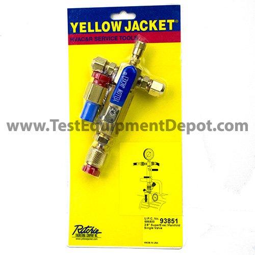 Yellow Jacket 93851 Evacuation Manifolds, Single Valve with 1/4