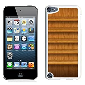 Fashionable Phone Case Textured Light Wood Shelves iPhone 5 Wallpaper in White.jpg
