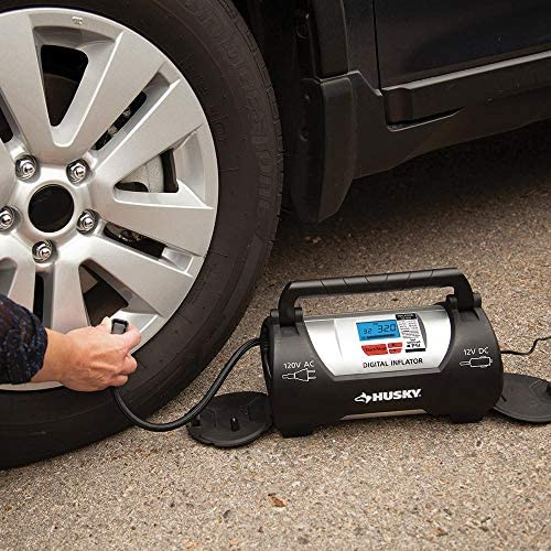 Husky Electric Air Tire Pump 120V Inflator Sport Auto Bike Car Truck Compressor by Husky