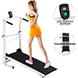 Joopee Treadmill Folding Manual Working Machine Cardio Fitness Exercise Incline Home Running Machine