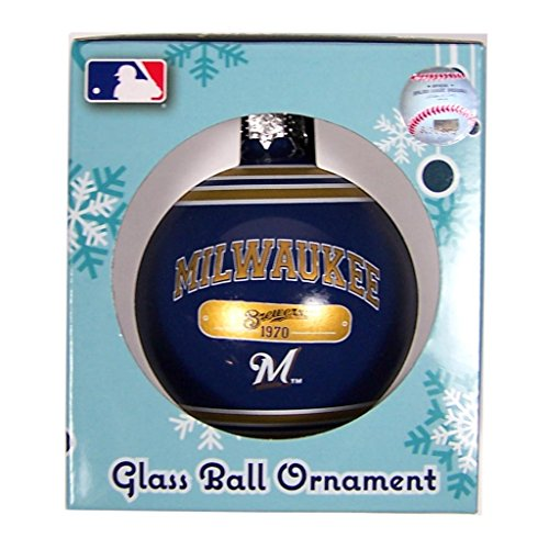 Milwaukee Brewers Official MLB 2014 Year Plaque Christmas Ball Ornament by Forever Collectibles