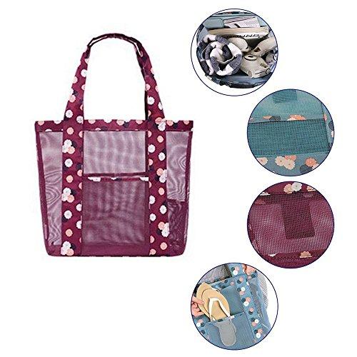 Beach Bags Clear Transparent Women Handbag 1 Candy Fashion Bag Shoulder Flower 0xRt80qa