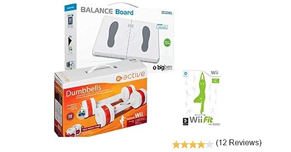 Eliware Wii - Tabla de Equilibrio BigBen con Mancuernas activas de EA y el Juego Wii Fit: Amazon.es: Deportes y aire libre