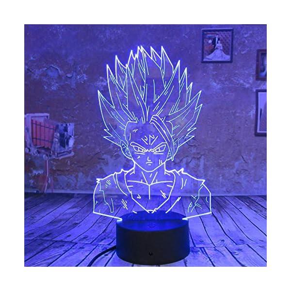 wangZJ 3d Led Lampe Night Light/Lampe Illusion Visuelle 3d / 7 Couleurs Touch/bébé Enfants Sleep Lampe/Cadeau De Noël/Dragon Ball Z Goku 1