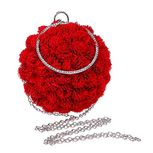 Mariage Main à Soirée Main Pochette Navy Ronde Sac Fait Poignet Sac Fleur Femmes Fête De Sac Bal Balle Clutch zpq7BB