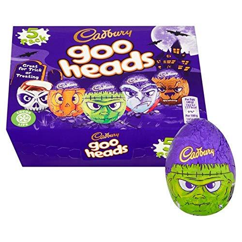 Cadbury Halloween 5 Goo Head Cream Eggs 200g -