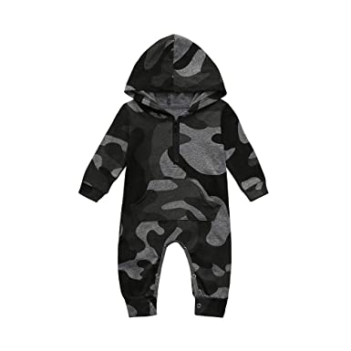 Newborn Baby Rompers Clothes Boys Girls Dinosaur Hooded Romper Jumpsuit Sleepwear Outfits by LuckUK