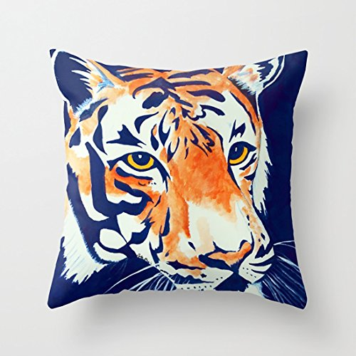 Auburn Tigers Throw Pillow - MostFans Throw Pillow Cases Auburn Tiger with Simple Styles for Home Car Office Coffee Decoration