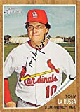 Tony La Russa autographed baseball card (St Louis Cardinals) 2011 Topps Heritage #198 - Baseball Slabbed Autographed Cards