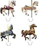 Novelty Carousel Horses Mix 12 Edible Stand up wafer paper cake toppers (5 - 10 BUSINESS DAYS DELIVERY FROM UK)