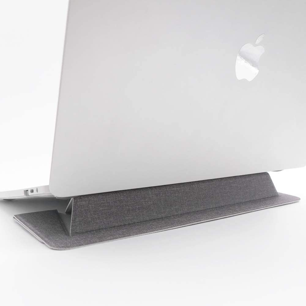 """SenseAGE Flat Foldable Laptop Stand, Invisible Lightweight Laptop Stand, Anti-Slide and Portable Notebook Stand, Compatible with MacBook/MacBook Air/MacBook Pro, Tablets and Laptops up to 15.4"""", Grey"""