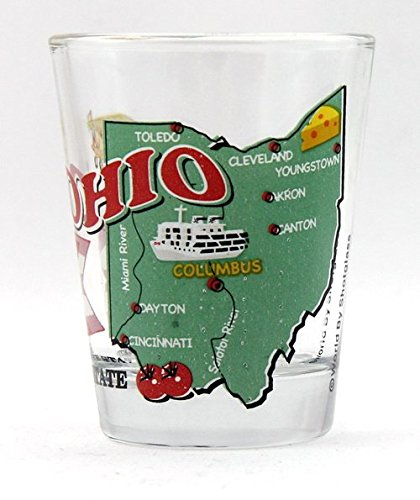 Ohio The Buckeye State All-American Collection Shot Glass
