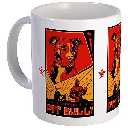CafePress - Obey The Pit Bull! Mug - Unique Coffee Mug, Coffee Cup - Obey Pit Bull
