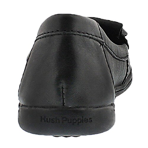 Hush Puppies Womens Rylie Claudine Moccasin Black Leather