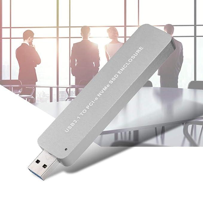Caja de disco duro móvil, Bewinner M.2 NVME a USB3.0 Caja de disco ...