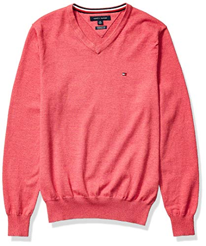 Tommy Hilfiger Men's Cotton V Neck Sweater