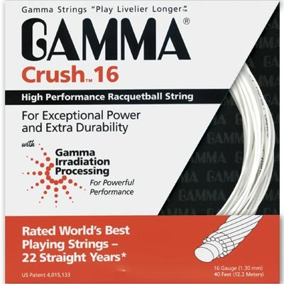 Gamma Crush 16g Racquetball String - White