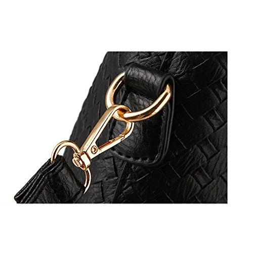 bandolera de tela del bolso Xagoo con correa para el hombro mensajero y pequeño bolso de mano (Estilo 4) Estilo 4