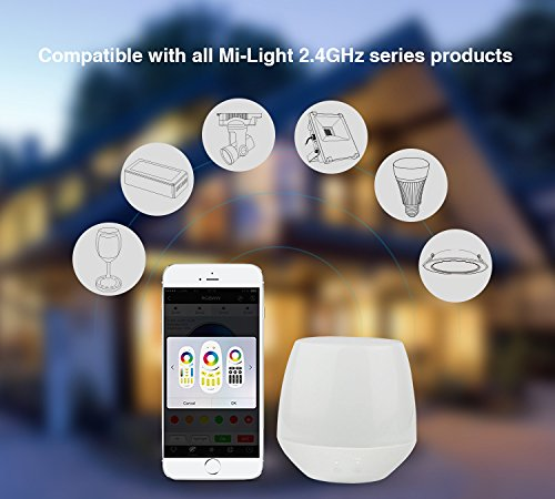 2W RGB Licht Wireless 2.4G original Mi-Light WiFi iBox1 Smart Light Kompatibel mit IOS//Android oder oben f/ür Mi-Light Blubs Foodlights Tracklights String Ligts Dekoration LIGHTEU