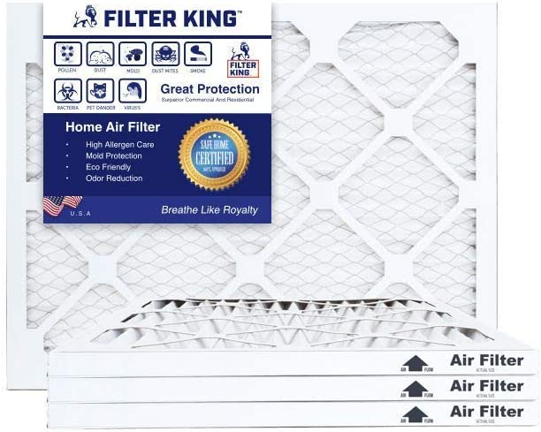 Filter King 19.5x23.5x1 Air Filters | 4 Pack | MERV 8 HVAC Pleated AC Furnace Filters, Protection Against Mold and Pollen, Allergen Reduction, Increases Air Quality