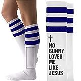 Easter Socks Jesus Quote Gift: Unisex Striped Knee-High Socks