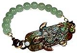 Verdigris Patina Brass Sea Turtle Interchangeable Rockband Bracelet - Amazonite, Jade