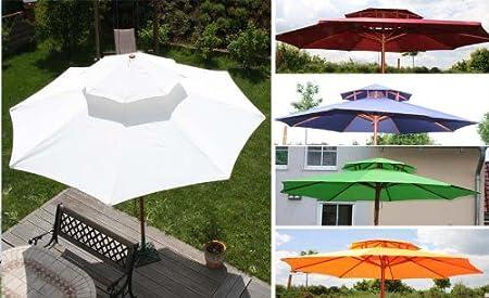 Asiatische Sonnenschirme , Amazon Asiatischer Sonnenschirm Gartenschirm 3 5m Holz Blau