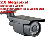 GW Security 2MP HDCVI/TVI/AHD/960H 4-In-1 Sony CMOS 4X Optical Motorized Zoom Auto-Zoom & Auto-Focus 72Pcs LED 210Ft IR Night Vision Waterproof 1080P Security Camera
