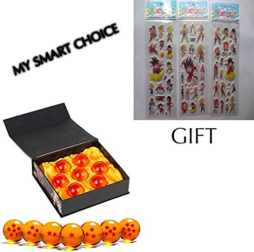 - my smart choice Unisex Stars Acrylic Transparent Play Balls 7pcs Set 4.3cm+ 3 sticker