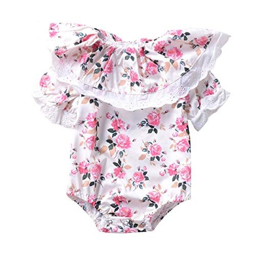 (Leyeet Newborn Infant Baby Flouncing Flower Romper Princess Style Summer Jumpsuit Sunsuit Clothes (Size : 100))
