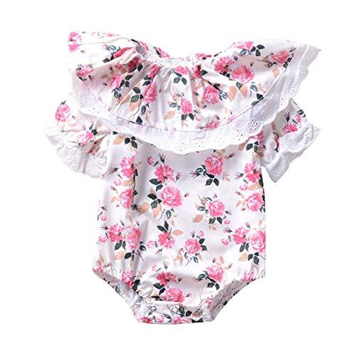 Leyeet Newborn Infant Baby Flouncing Flower Romper Princess Style Summer Jumpsuit Sunsuit Clothes (Size : 100)