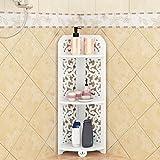 GL&G Bathroom Furniture wood Plastic plate Carved bathroom shelf Bathroom corner stand Modern fashion Land tripod,2480cm