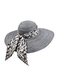 Ladies summer sun folded straw hat/Big eaves hat/Holiday Beach Hat