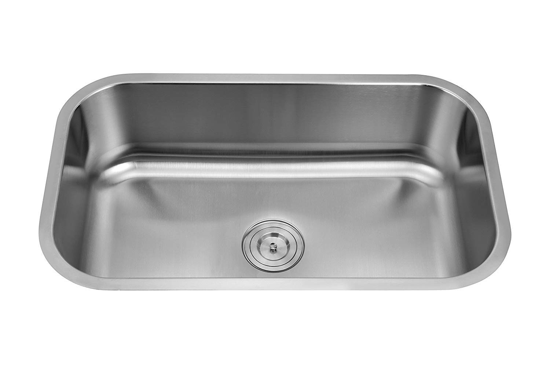 Silver Line Undermount Single Bowl Stainless Steel Grade 304 Kitchen Sink 30 X18 X9 Amazon In Home Improvement