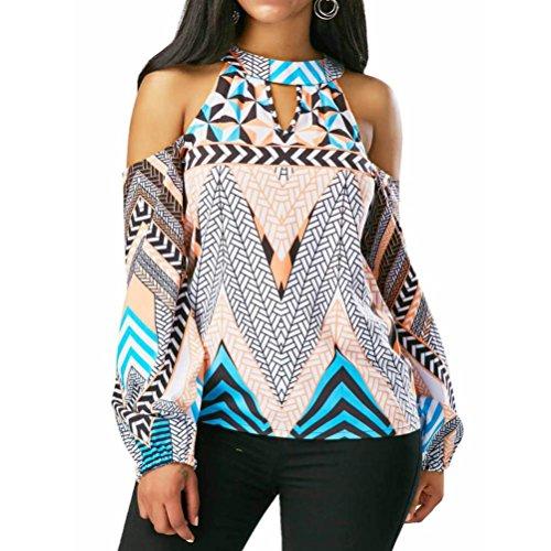 T Off Geometry Shoulder Shirt ADESHOP Bohemia Blouse Tops Retro Women Dcontracte Blouse vqpI5wZ