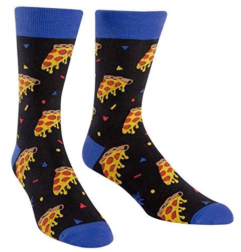 Sock It To Me Men's Fun Crew Socks Sport Party (Men's Pizza Party)