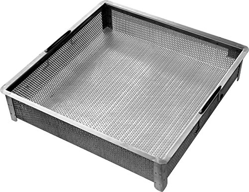 4 Bowl Sink Backsplash - ACE Stainless Steel Compartment ETL Certified Sink Drain Basket, 17-3/4 x 17-3/4 x 4